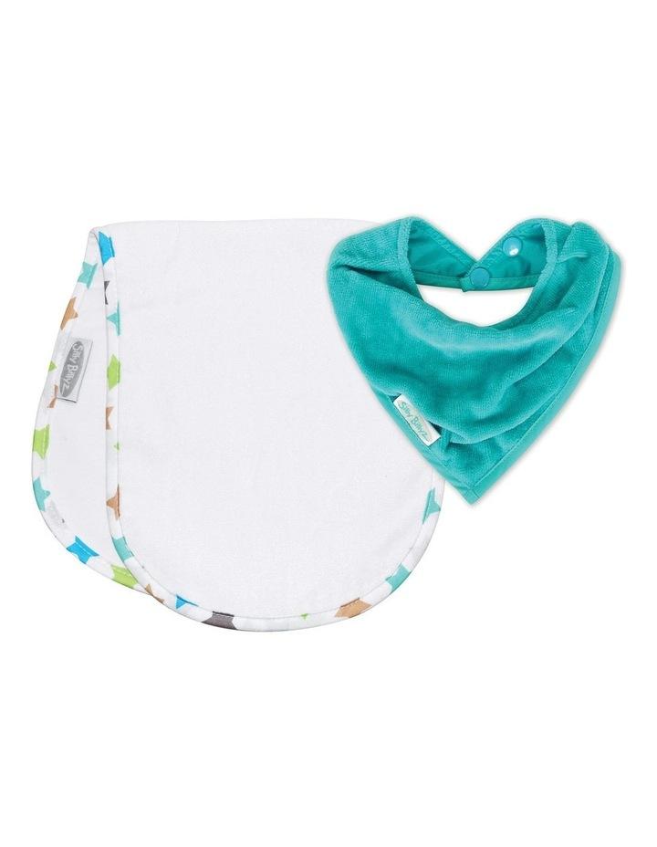 Aqua/Stella Shoulder & Bandana Bibs Pack image 1