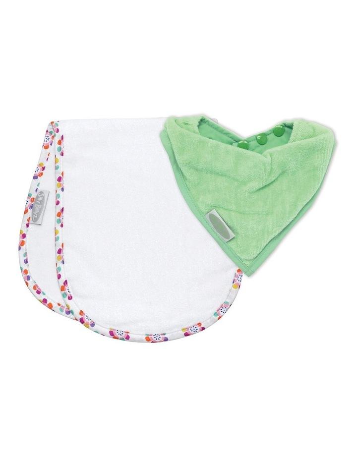 Mint/Pansy Shoulder & Bandana Bibs Pack image 1
