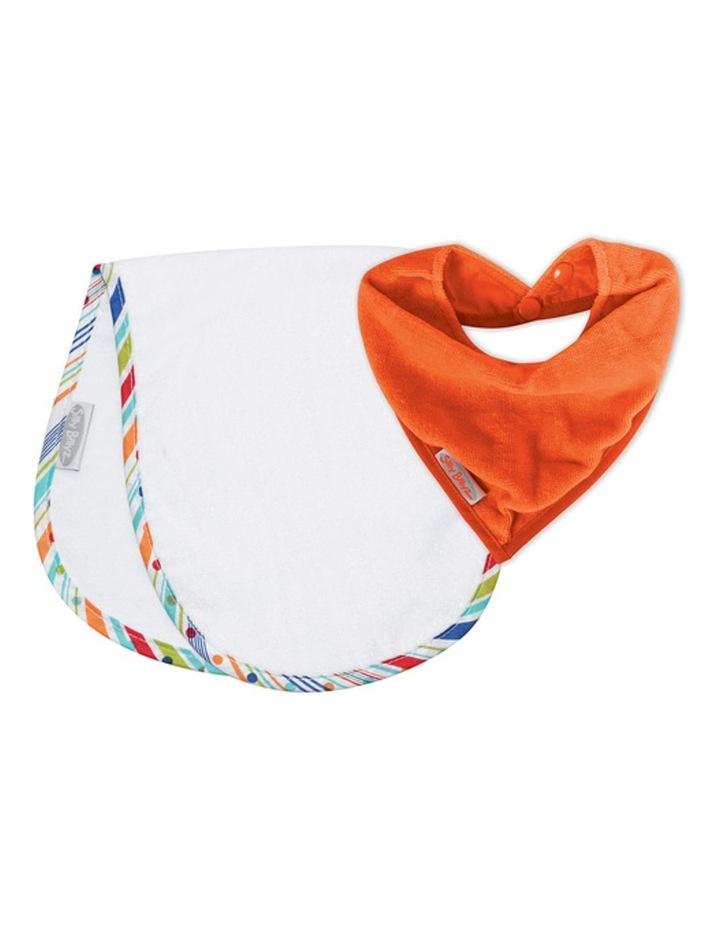 Orange/Sprite Shoulder & Bandana Bibs Pack image 1
