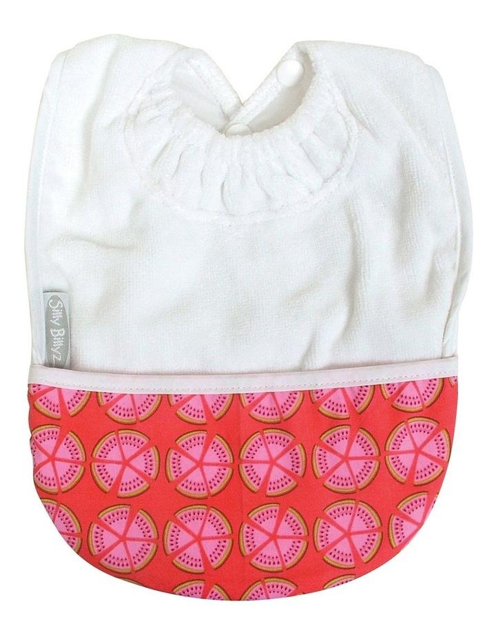 White Melon Towel Pocket Bib image 1