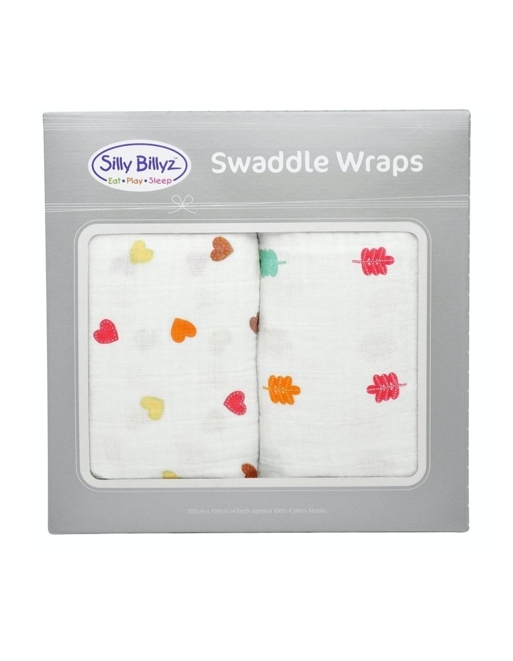 Sycamore Heart Muslin Swaddle Wrap 2pk image 1