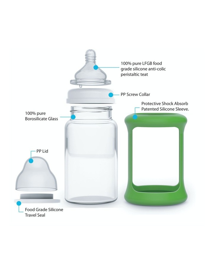 Wide Neck Glass Sippy Cup With Colour Change Sleeve 240ml - Orange (With Bonus Bottle) image 5