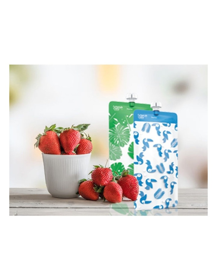 On The Go Mini Food Pouches Toucan Blue & Rainforest Green 10 Pack image 6