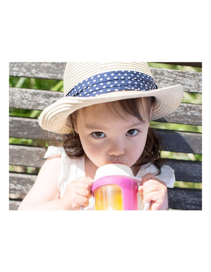 Wide Neck Glass Straw Cup With Colour Change Sleeve 240ml Yellow (With Bonus Bottle) image 7