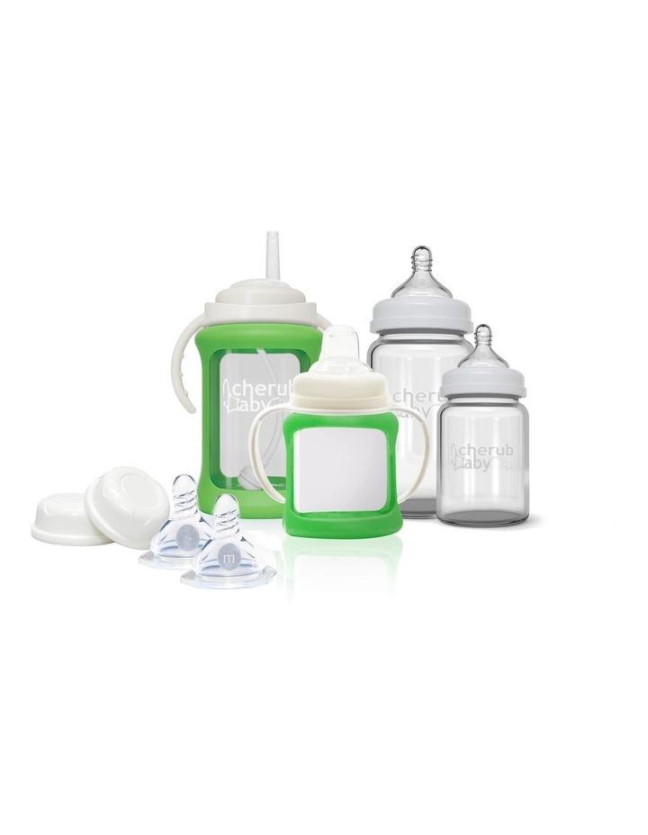 Glass Baby Bottles Starter Kit - Green image 1