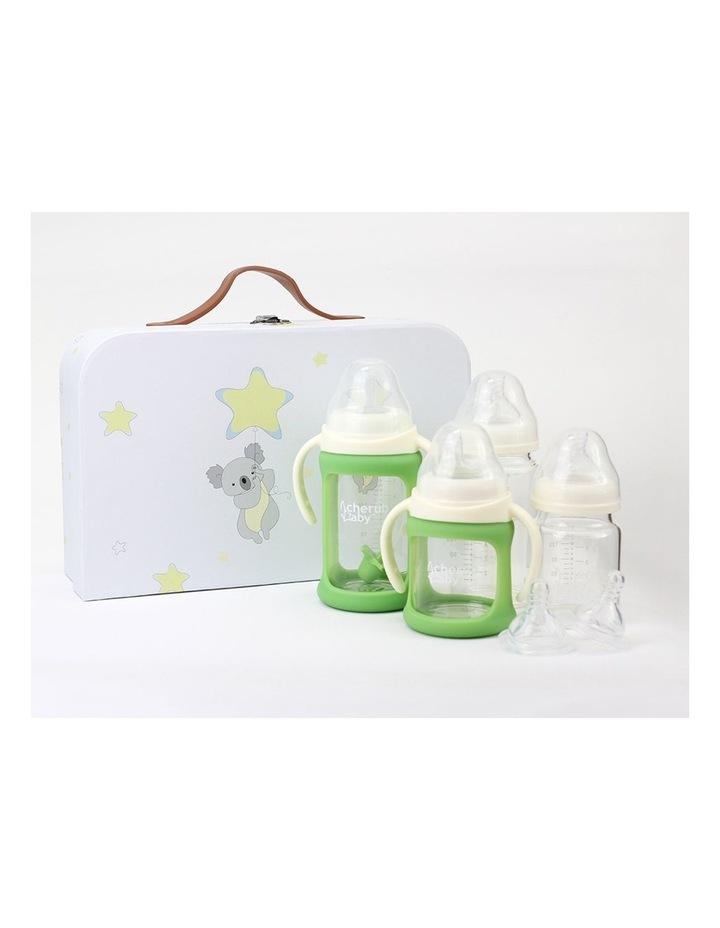 Glass Baby Bottles Starter Kit - Green image 2