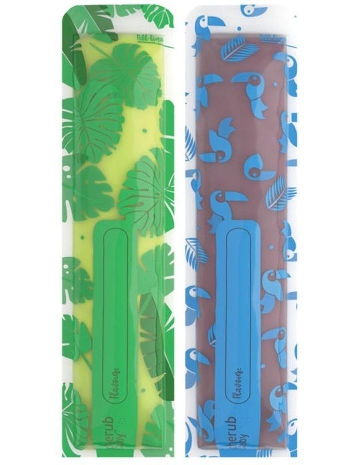 Reusable Freeze n Squeeze Ice Pop Pouches -Toucan Blue & Rainforest Green 20pk / New image 1