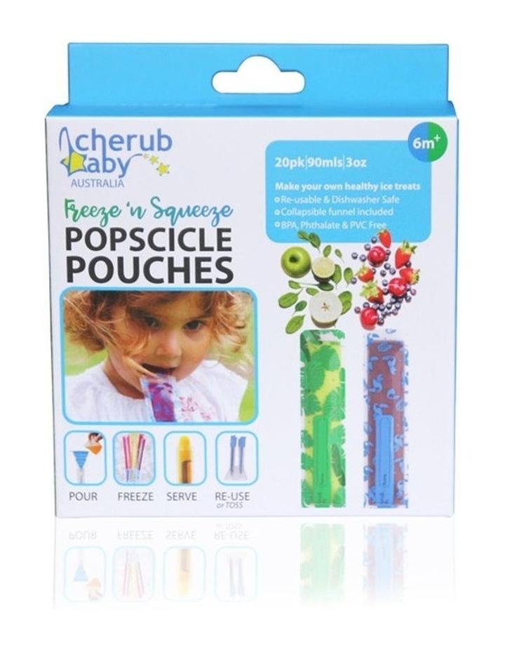 Reusable Freeze n Squeeze Ice Pop Pouches -Toucan Blue & Rainforest Green 20pk / New image 6