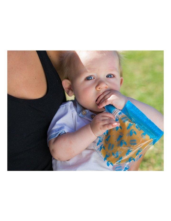 On The Go Baby Food Pouches - Toucan Blue & Rainforest Green Special Edition 10 Pack image 2