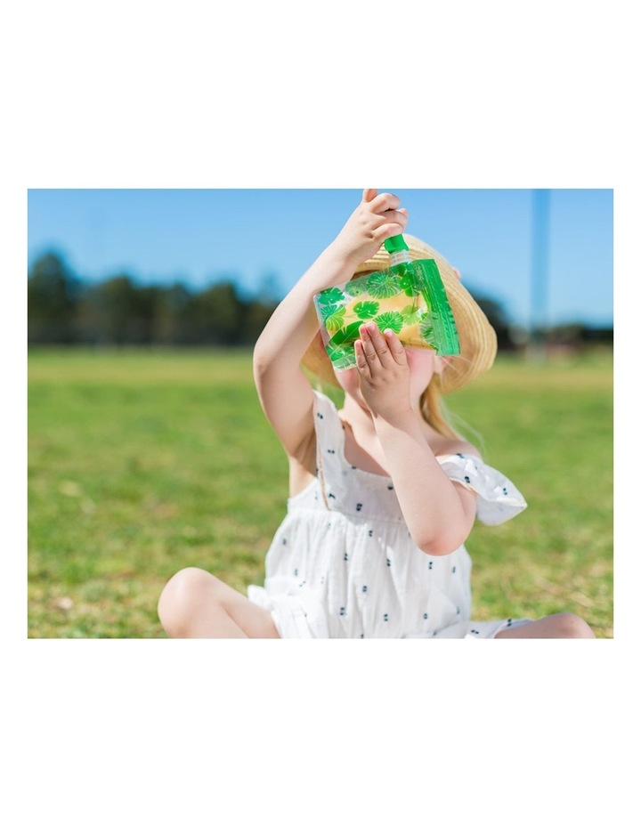 On The Go Baby Food Pouches - Toucan Blue & Rainforest Green Special Edition 10 Pack image 3