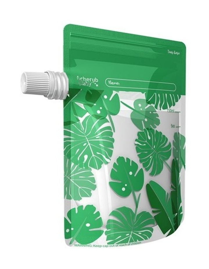 On The Go Baby Food Pouches - Toucan Blue & Rainforest Green Special Edition 10 Pack image 5