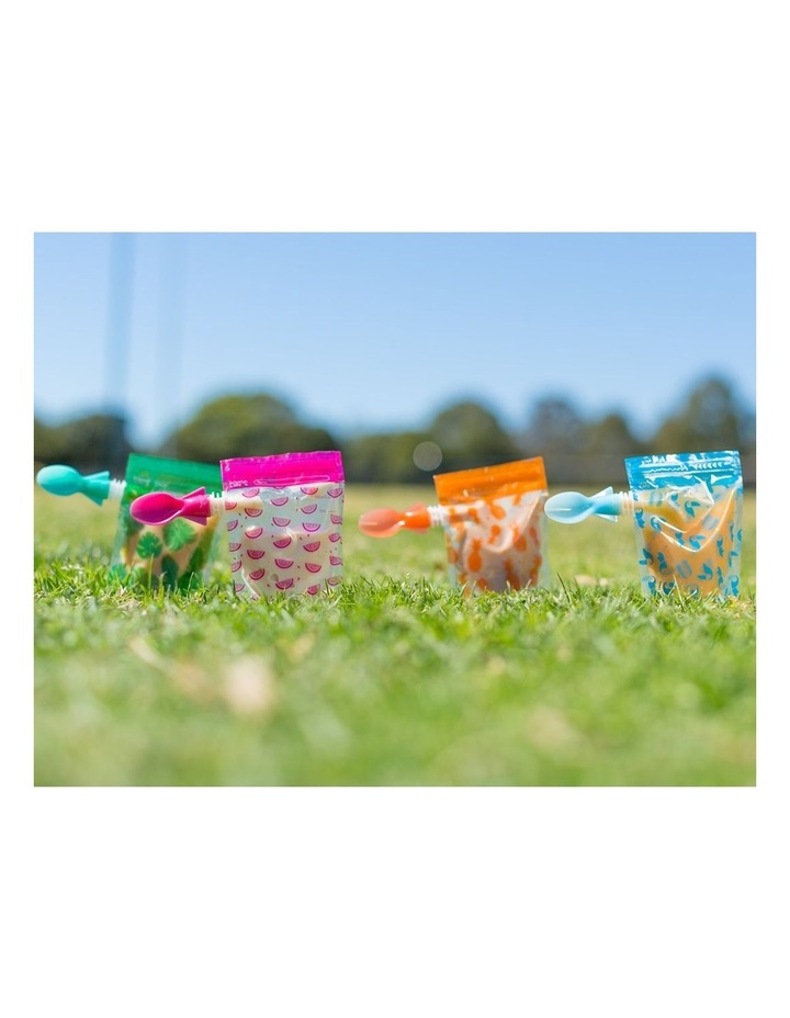 On The Go Baby Food Pouches - Toucan Blue & Rainforest Green Special Edition 10 Pack image 6