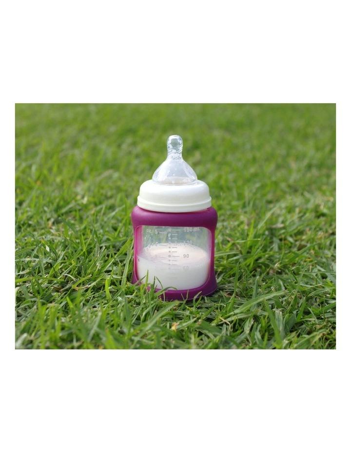 Cherub Baby Colour Change Glass Bottles Wide Neck 150ml Twin , Pink image 3