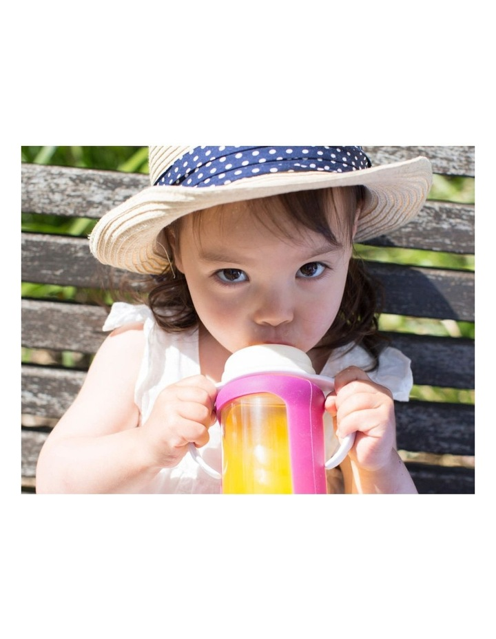 Cherub Baby Colour Change Glass Bottles Wide Neck 150ml Twin , Pink image 4
