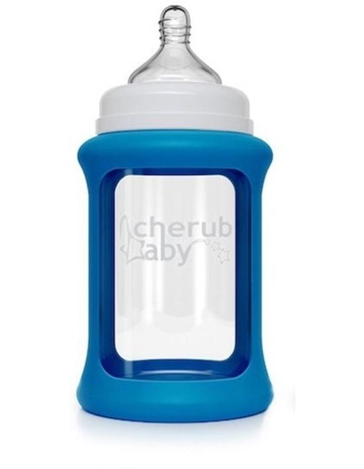 Colour Change Glass Bottles Wide Neck 240ml Single Pack   Blue image 1