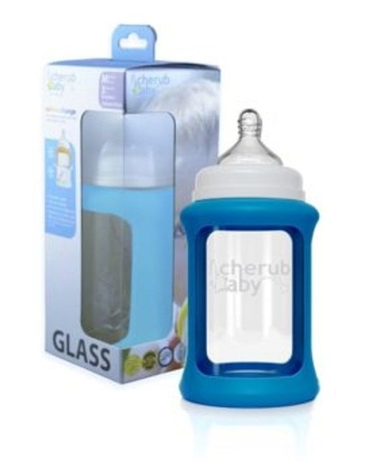 Colour Change Glass Bottles Wide Neck 240ml Single Pack   Blue image 3
