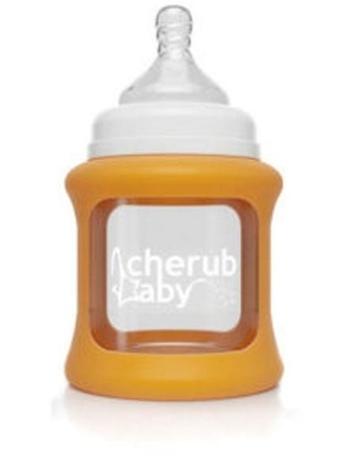 Cherub Baby Colour Change Glass Bottles Wide Neck 150ml Twin , Orange / New image 4