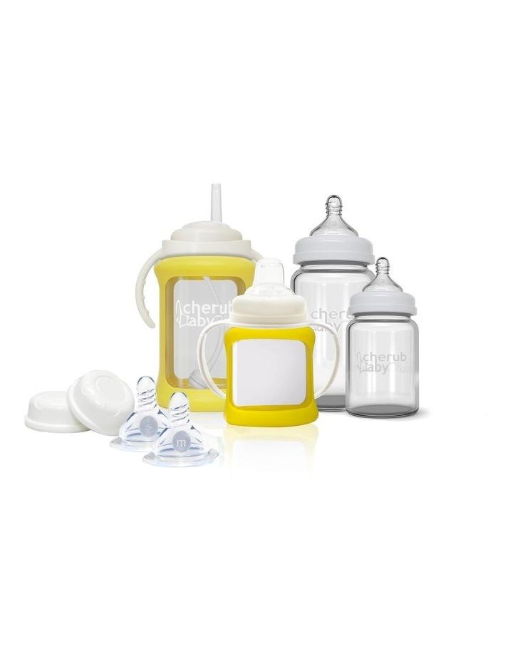 Glass Baby Bottles Starter Kit - Yellow image 1