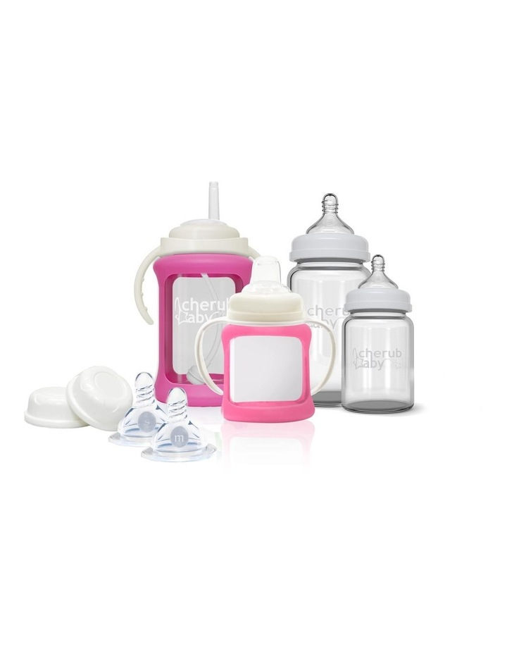 Glass Baby Bottles Starter Kit - Pink image 1