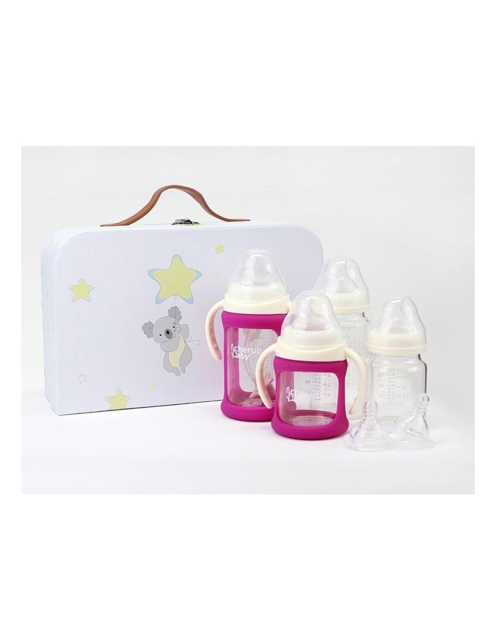 Glass Baby Bottles Starter Kit - Pink image 2