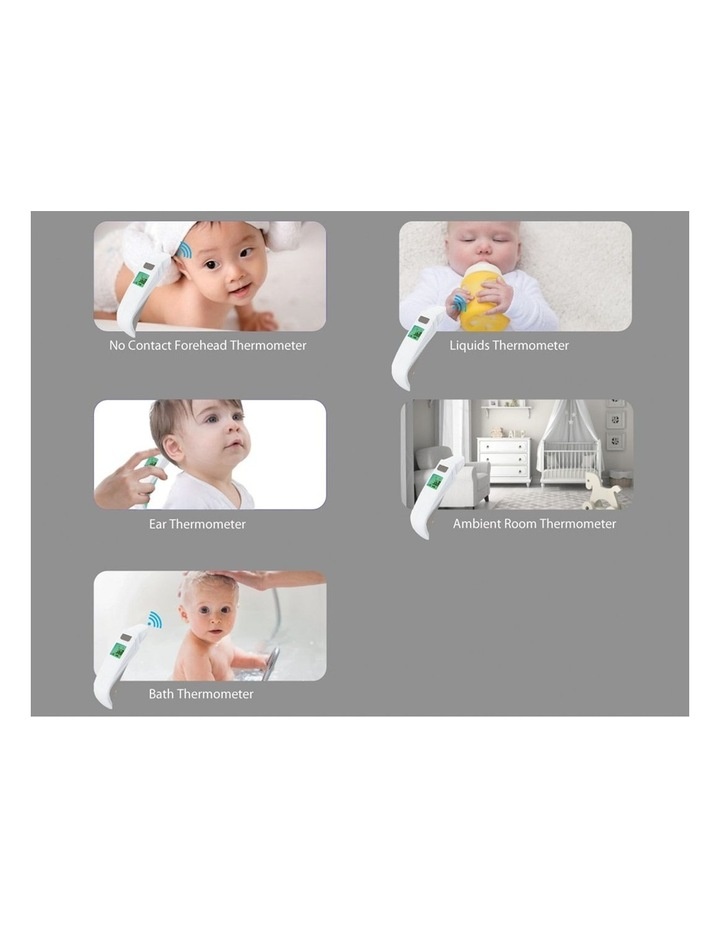5 in 1 Forehead Ear and Bath Touchless Thermometer image 2