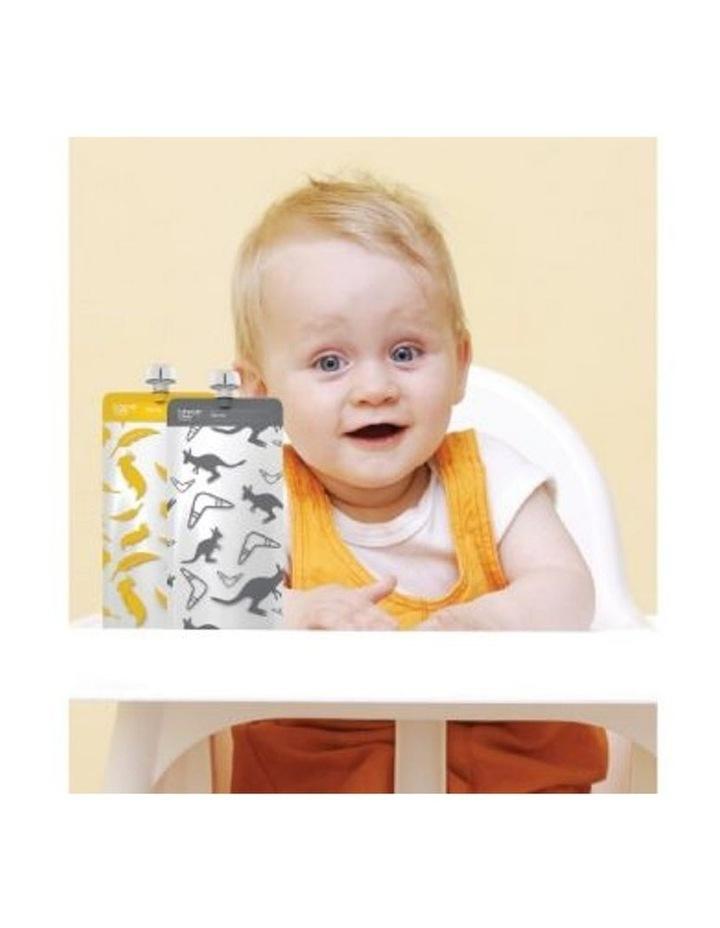 On The Go Food Pouch 180Ml Maxi'S Bundle - Grey, Yellow, Pink & Orange 20Pk image 2