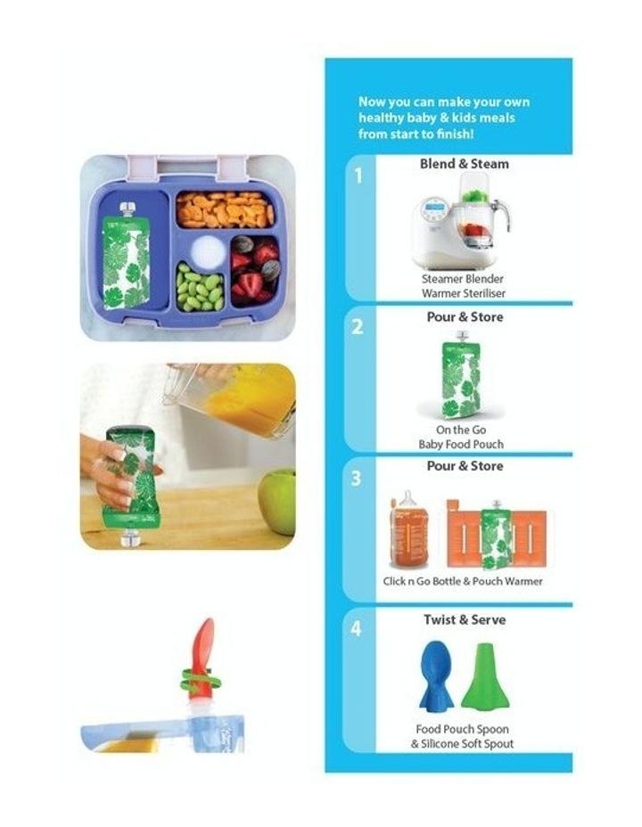 On The Go Food Pouch 180Ml Maxi'S Bundle - Grey, Yellow, Pink & Orange 20Pk image 3