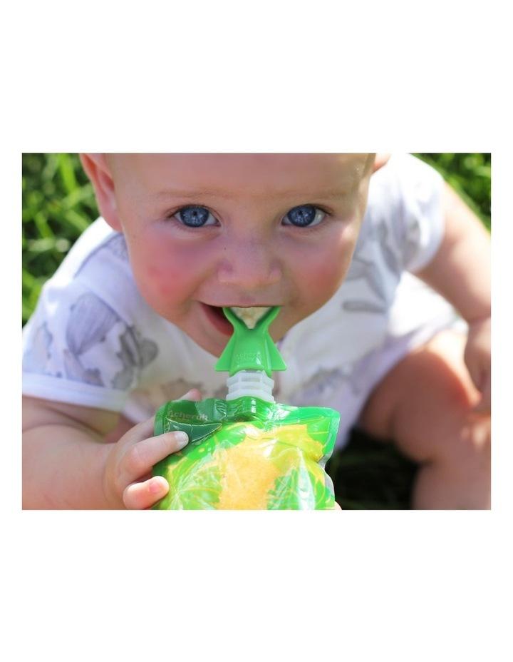 On The Go Food Pouch 180Ml Maxi'S Bundle - Grey, Yellow, Pink & Orange 20Pk image 5