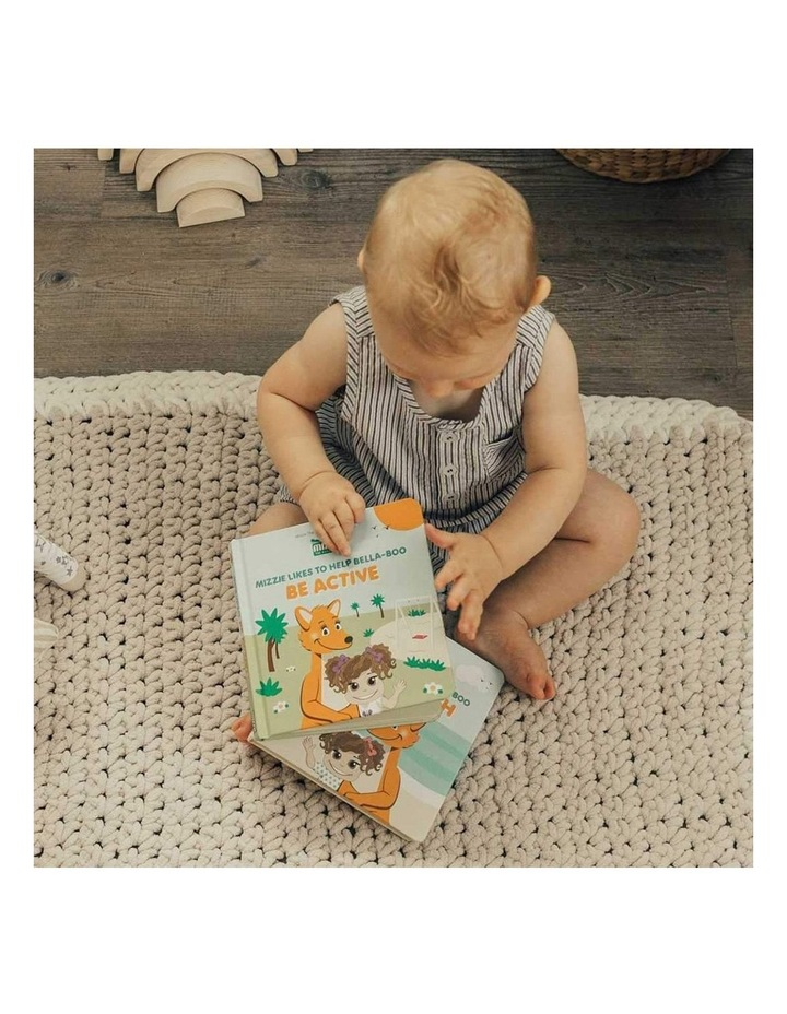 'Be Active' Baby Board Book Gift Set with Mizzie Teething Toy image 2