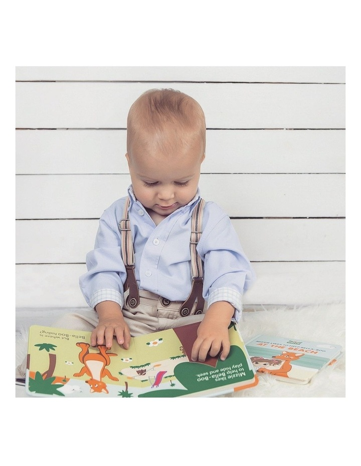 'Be Active' Baby Board Book Gift Set with Mizzie Teething Toy image 4
