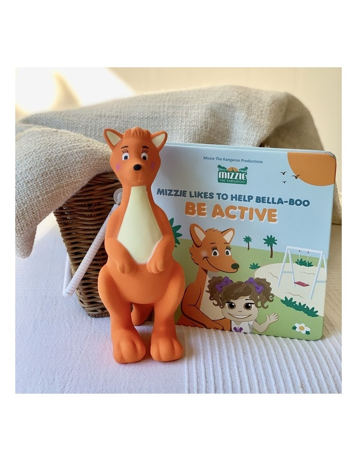 'Be Active' Baby Board Book Gift Set with Mizzie Teething Toy image 6