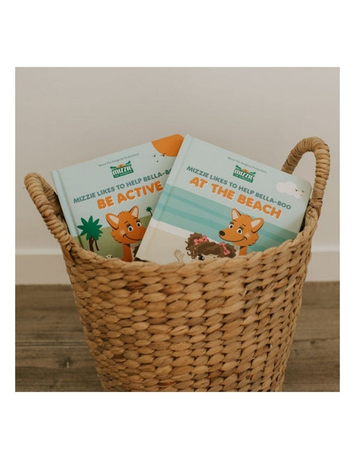 'Be Active' Baby Board Book Gift Set with Mizzie Teething Toy image 7