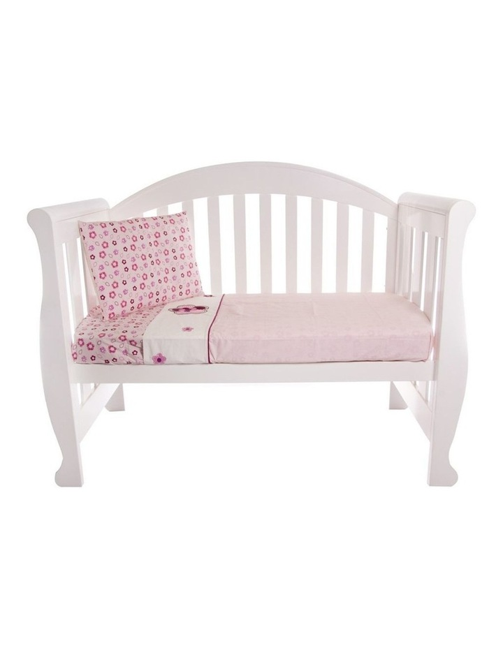 Amani Bebe 3pce Cot Sheet Set - Raspberry Garden image 1