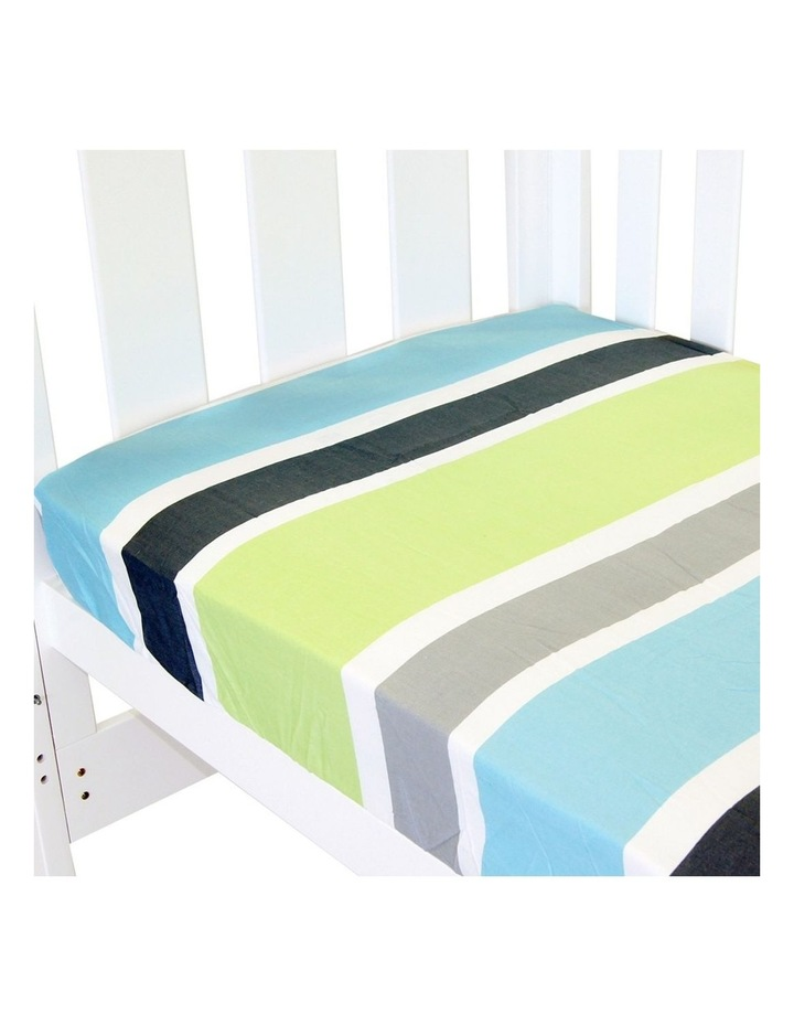 Amani Bebe Fitted Sheet Summer Stripe Collection image 1