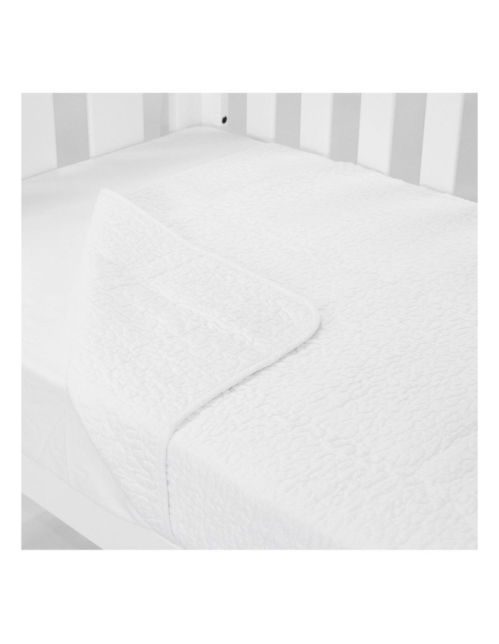 Cot Quilt Coverlet Classic White image 1
