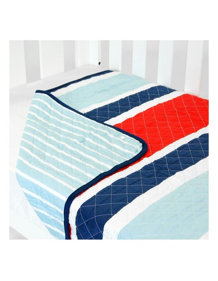 Cot Quilt Coverlet Breezy Blue image 1