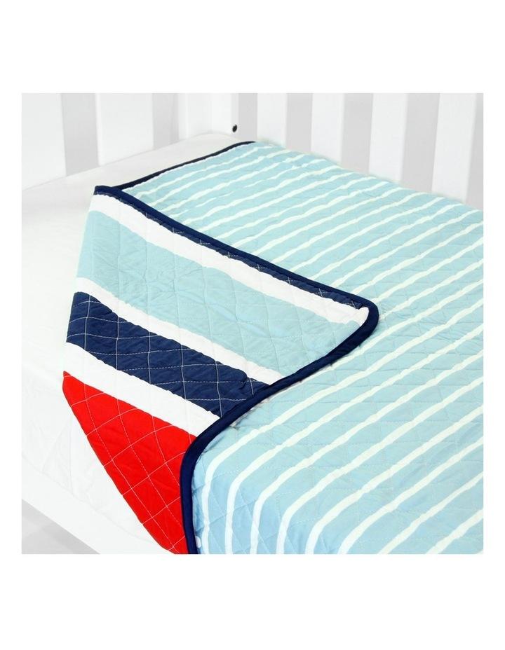 Cot Quilt Coverlet Breezy Blue image 2