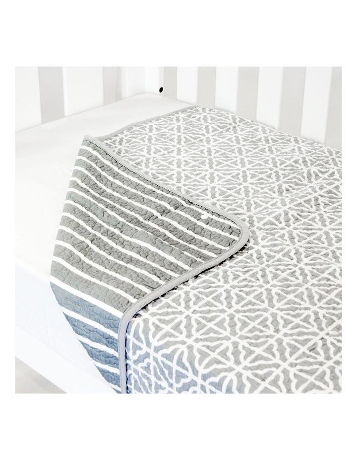 Cot Quilt Coverlet  Summer Stripe image 2