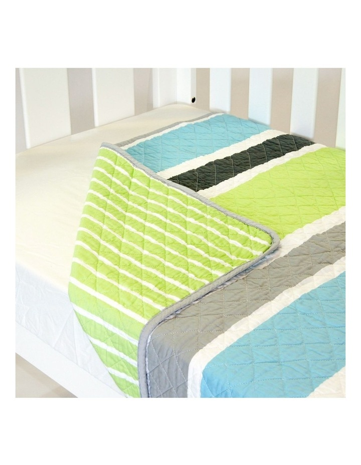 Cot Quilt Coverlet  Summer Stripe image 1