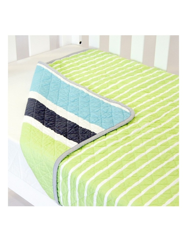 Cot Quilt Coverlet  Summer Stripe image 2