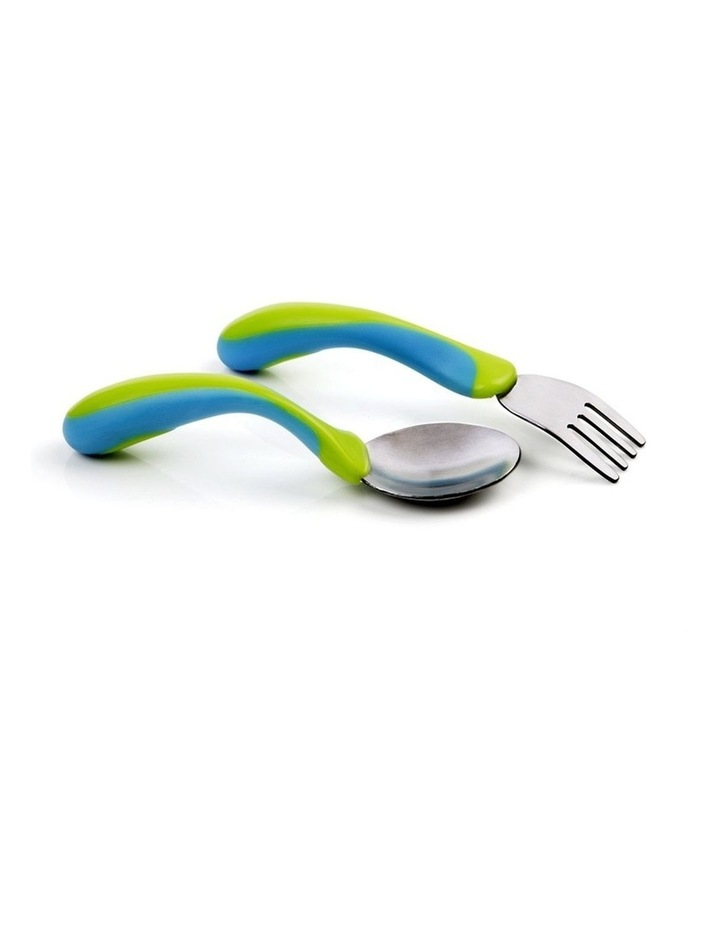 Tomy Tippy Toddler Fork And Spoon image 1