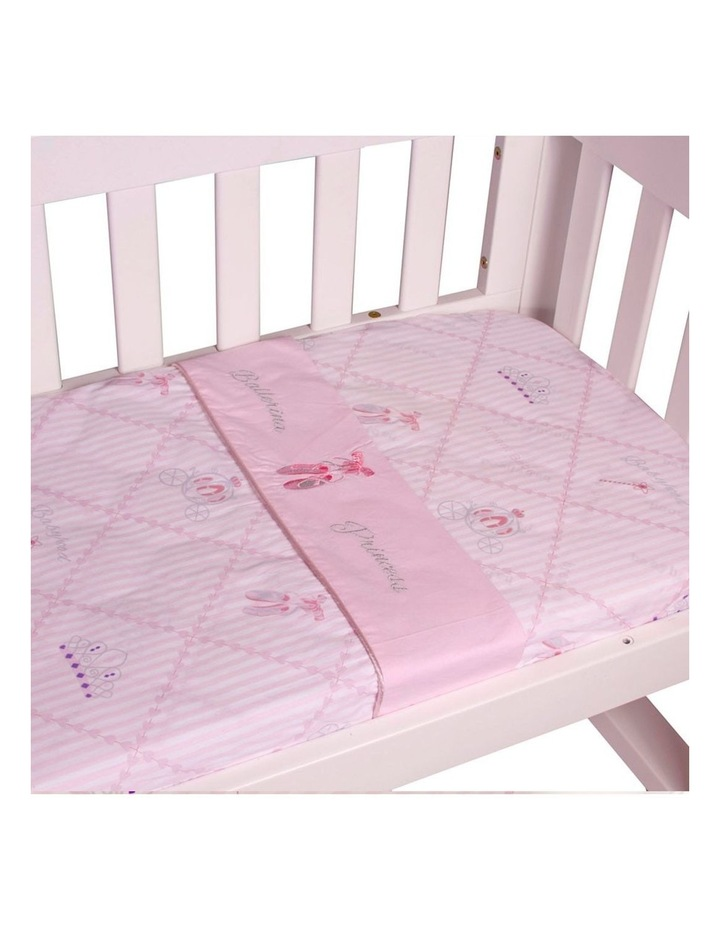 Amani Bebe 3pce Cradle Sheet Set Ballerina Princess image 2