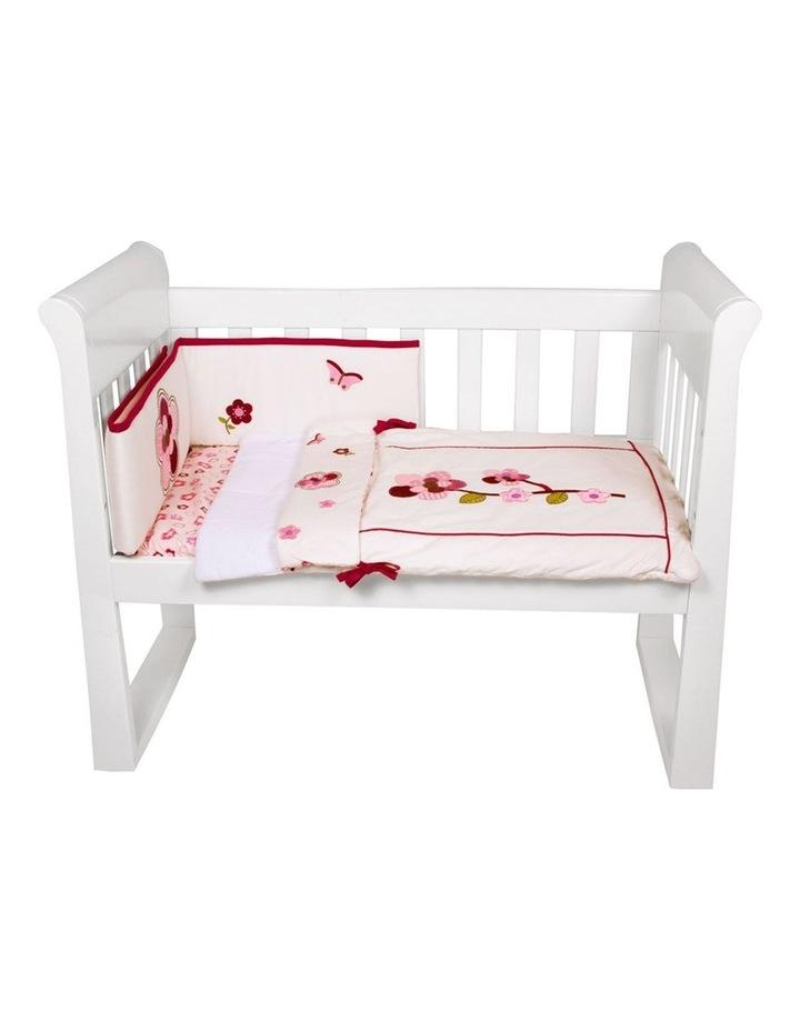 Amani Bebe 3pce Cradle Set Raspberry Garden image 1