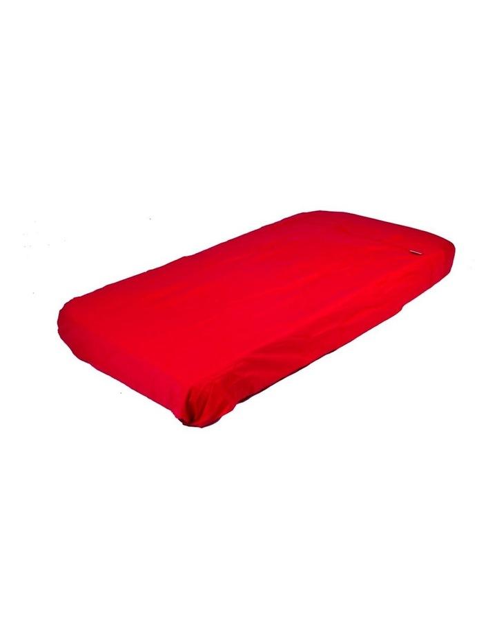 Cot Flat Sheet - Red image 1