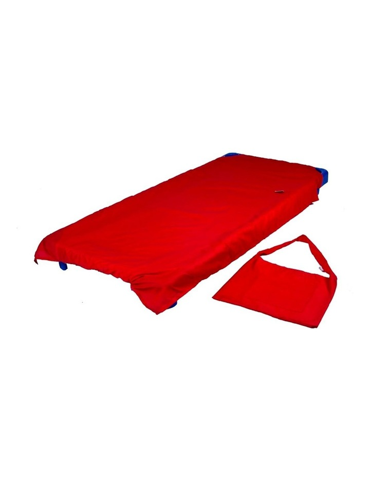 Stacking Cot Bed Sheet - Red image 1
