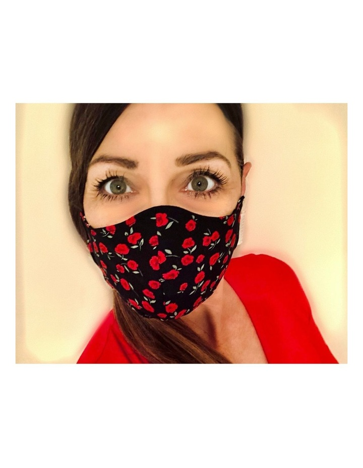 Fabric Face Mask  - Red Roses image 2