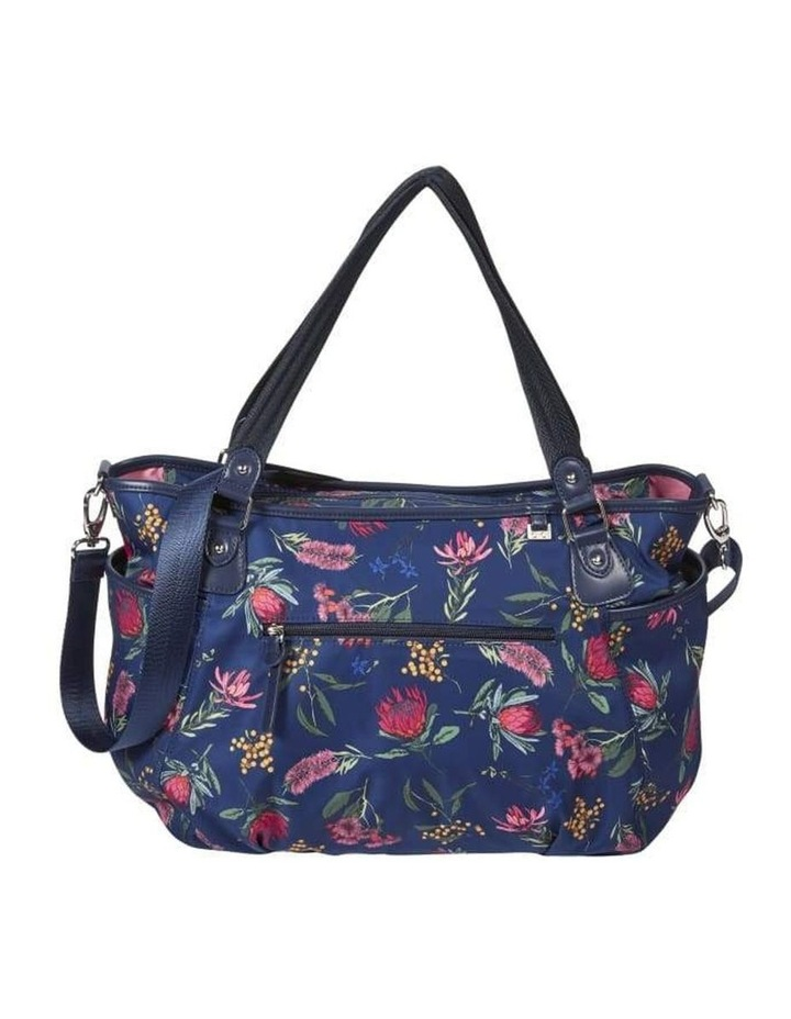 Tote Nappy Bag - Botanical Navy (7036) image 1