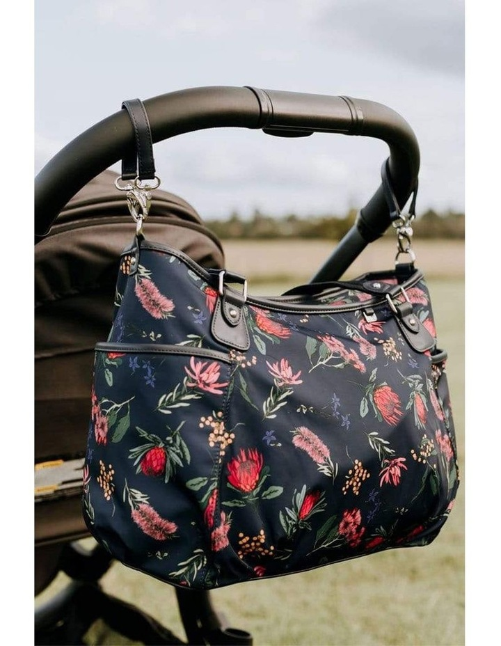 Tote Nappy Bag - Botanical Navy (7036) image 2