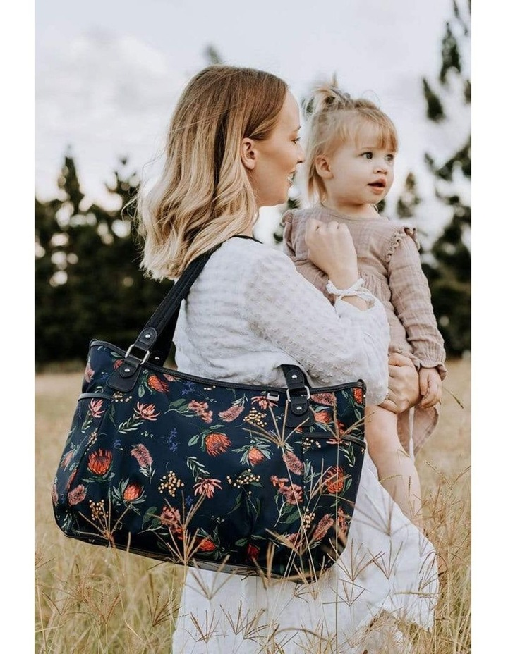 Tote Nappy Bag - Botanical Navy (7036) image 3