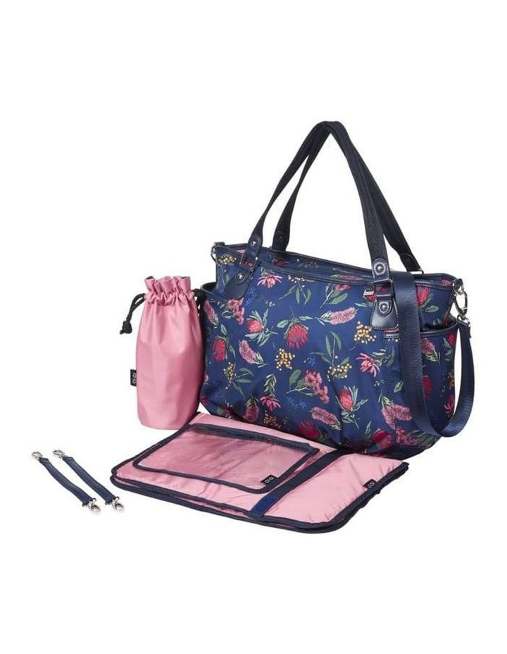 Tote Nappy Bag - Botanical Navy (7036) image 6